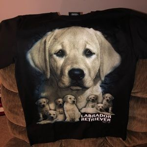 Other - Double sided golden retriever print tee shirt